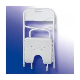 Silla de baño plegable en aluminio