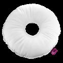 Cojín saniluxe redondo con agujero blanco